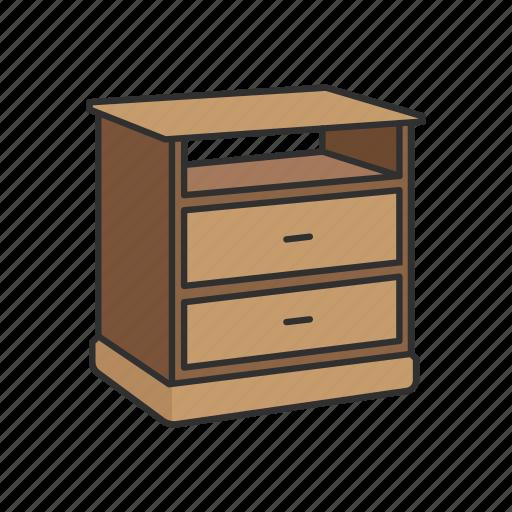 Daystand, drawer, furniture, interior, nightstand, shelves, storage icon - Download on Iconfinder