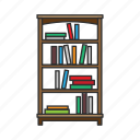bookshelf, bookstand, cabinet, furniture, interior, shelves, storage icon
