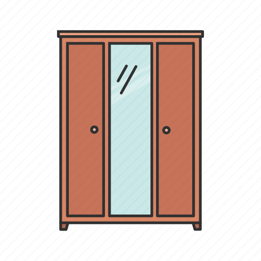 Cabinet, closet, drawer, furniture, interior, storage, wardrobe icon - Download on Iconfinder
