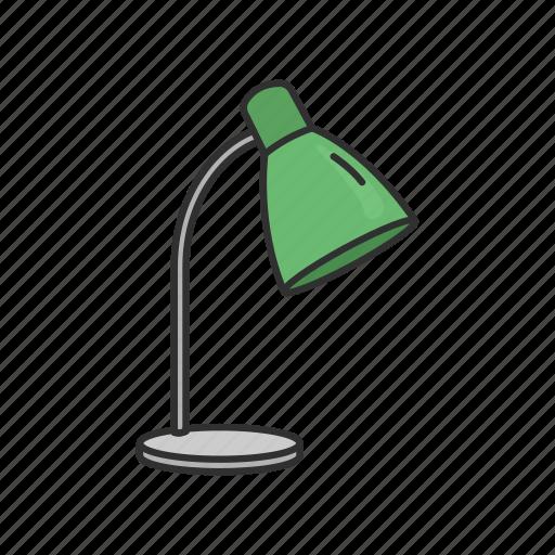 furniture, interior, lamp, lampshade, light, reading lamp, table lamp icon