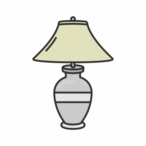 furniture, interior, lamp, lampshade, light, lightbulb, table lamp icon