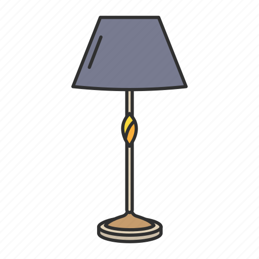 Furniture, interior, lamp, lampshade, light, table lamp, households icon - Download on Iconfinder