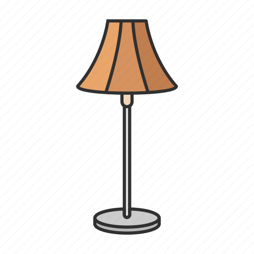 furniture, households, interior, lamp, lampshade, light, table lamp icon