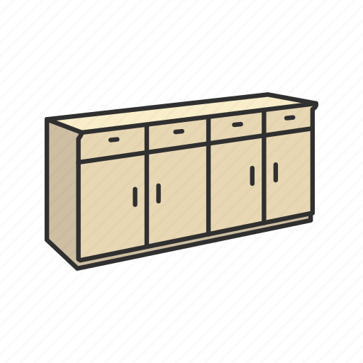 Cabinet, furniture, household, households, interior, shelves, storage icon - Download on Iconfinder