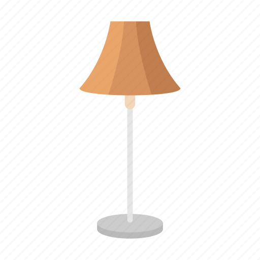 furniture, house interior, households, interior, lamp, light, table lamp icon