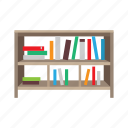 bookshelf, bookstand, cabinet, drawers, furniture, interior, shelves icon