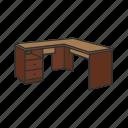 bureau, desk, furniture, interior, office, school table, table