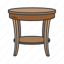 desk, end table, furniture, household, interior, side table, table icon