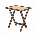 desk, dining table, folding table, furniture, interior, portable table, table icon