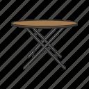 card table, desk, folding table, furniture, interior, portable table, table