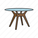 coffee table, desk, dining table, furniture, households, interior, table icon