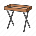 desk, folding table, furniture, interior, table, tv tray, tv tray table icon