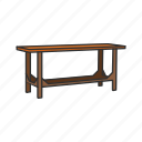desk, furniture, households, interior, sturdy table, table, workbench