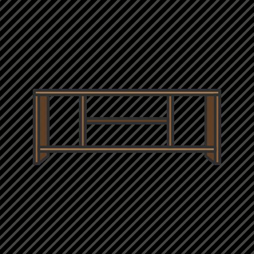 desk, entertainment table, furniture, shelf, table, tv rack, tv shelf icon
