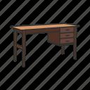 bureau, desk, furniture, interior, office table, school table, table