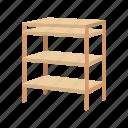 bureau, drawer, furniture, households, interior, nursery set, shelves icon