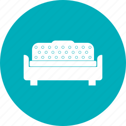 bed, bedroom, bedroom furniture, furniture, sleep, sofa icon