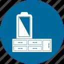 dresser, dressing table, dressing vanity, furniture, vanity table icon