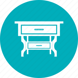 dining table, expanding table, folding table icon