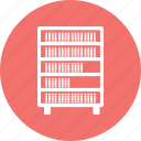 book, book shelf, library, shelf icon