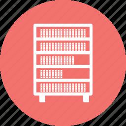 book, book shelf, library, shelf icon
