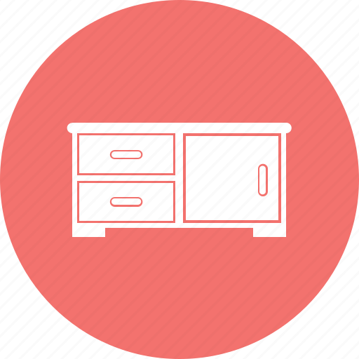 cabinet, desk, furniture, interior icon