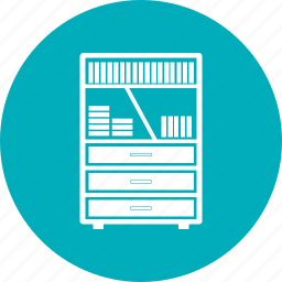 book, bookmark, furniture, shelf icon