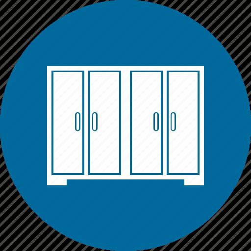 almirah, cabinet, furniture, wardrobe icon