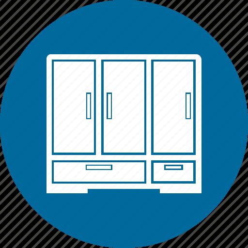 almirah, bureau, cabinet, drawer, filing cabinets icon