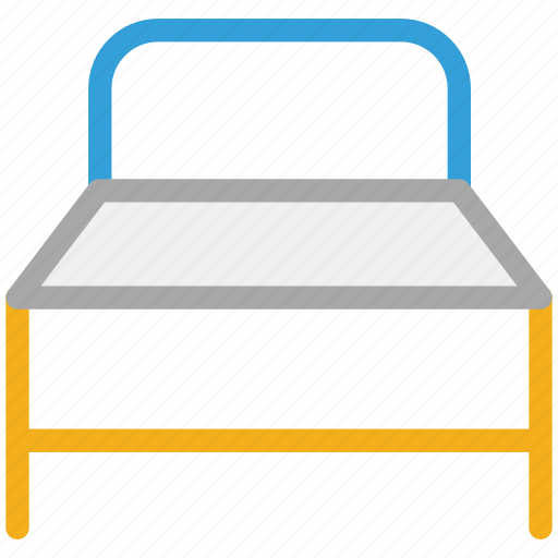bed, furniture, single bed, sleep icon