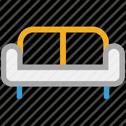 couch, furniture, interior, sofa icon