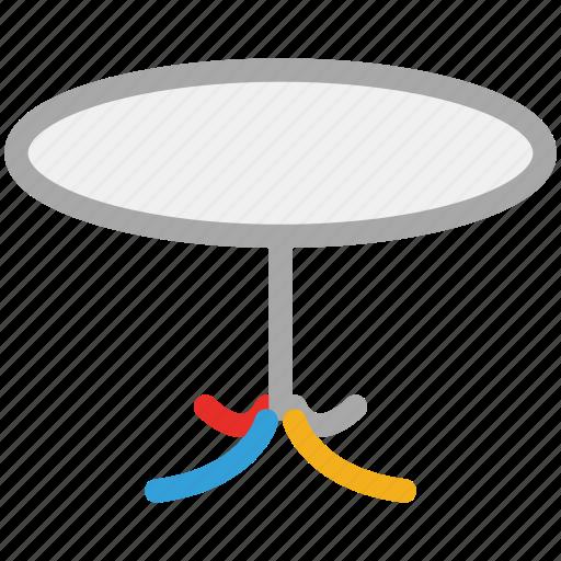 furniture, interior, round table, table icon