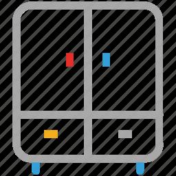cupboard, furniture, interior, wardrobe icon
