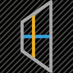 corridor, view, window, window case icon