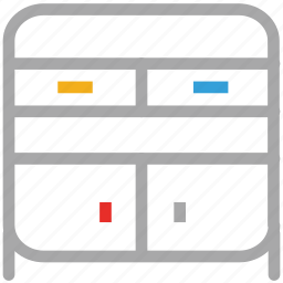cabinet, drawer, furniture, storage icon