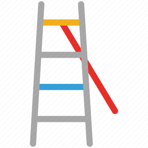 ladder, rail, stairs, up and down icon
