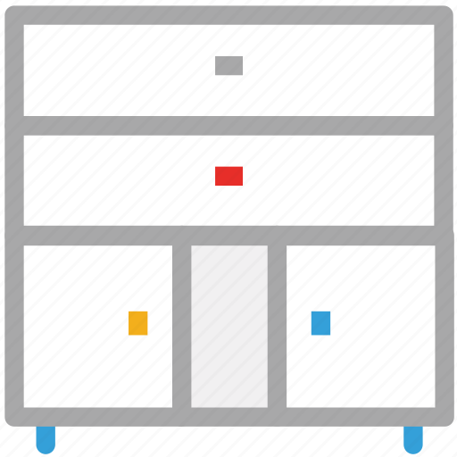 cabinet, drawers, furniture, storage icon
