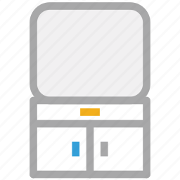 cabinet, screen, television, tv icon