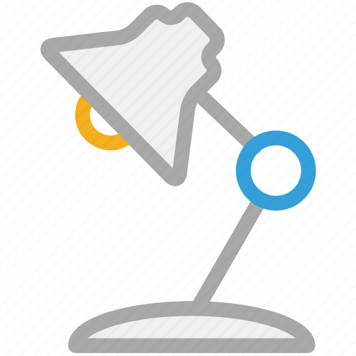 desk lamp, lamp, light, study lamp icon