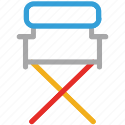 chair, furniture, studio chair, studio director chair icon