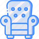 armchair, chair, furniture, house icon