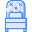 bed, bedroom, furniture, house, single, sleep icon
