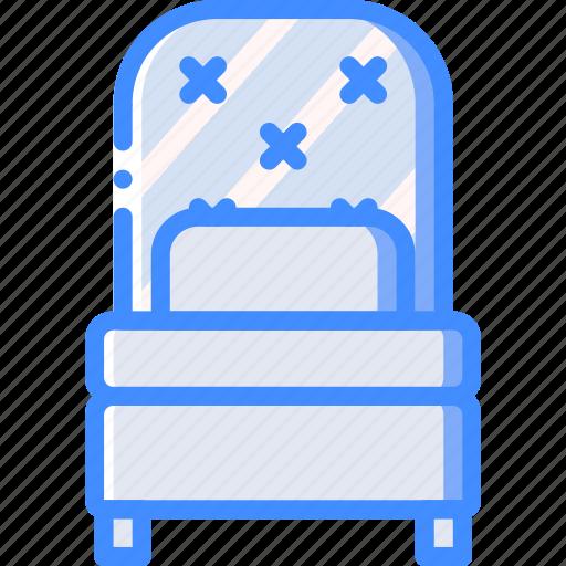 bed, bedroom, furniture, house, single, sleep icon