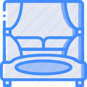 bed, bedroom, furniture, house, sleep icon