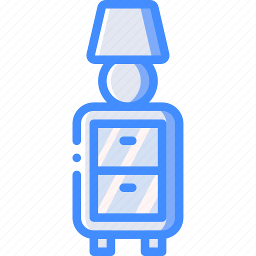 bedside, furniture, house, lamp, table icon