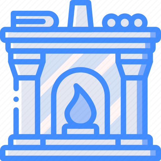 fireplace, furniture, house icon