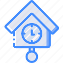 clock, furniture, house, time icon