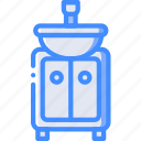 bathroom, furniture, house, sink, wash icon