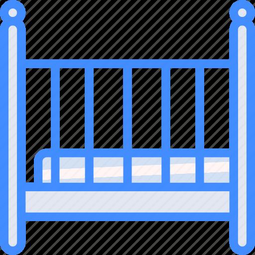 baby, cot, furniture, house, sleep icon