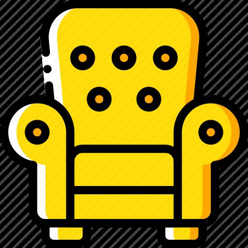 armchair, chair, furniture, house icon